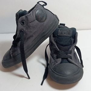 CONVERSE ALL STAR MID STREET SNEAKERS BLACKOUTS